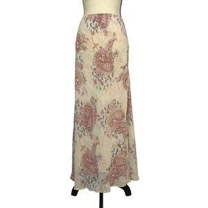 J Jill Floral Paisley Maxi Skirt